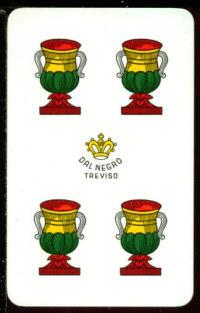 Il quattro di coppe for Due di bastoni carte napoletane