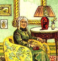 La vecchia signora nelle Sibille della Zingara