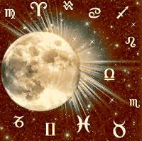 la luna e i transiti nei segni zodiacali dell'oroscopo
